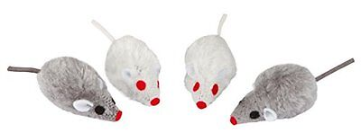 Kerbl Grey-White Mice, 5 cm, 4 Piece