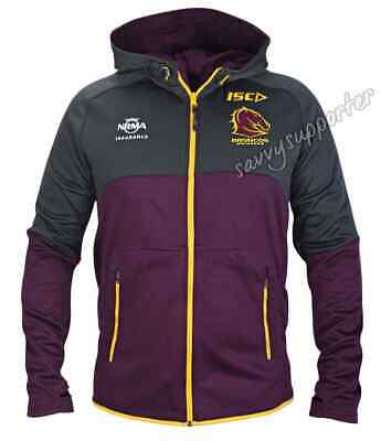 Brisbane Broncos 2017 NRL Workout Hoody Jacket 'Select Size' S-5XL BNWT