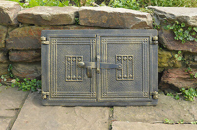 40.7 x 26.8 cm cast iron fire door clay bread oven doors pizza stove fireplace