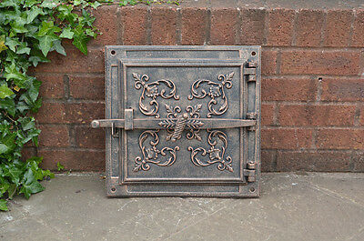 40.5 x 40.5 cm cast iron fire door clay/bread oven door/pizza smoke house