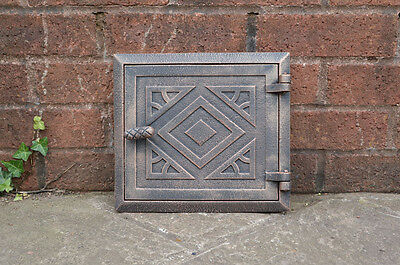 26.6 cm x 24.2 cm cast iron fire door clay/bread oven door/pizza smoke house