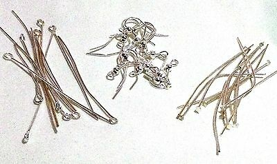Silver Plated Earring Making Kit New Findings Makes 5 Pairs