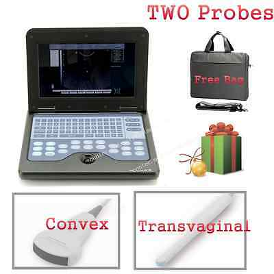 CMS600P2 Portable laptop machine Digital Ultrasound scanner 2 Probes CE CONTEC