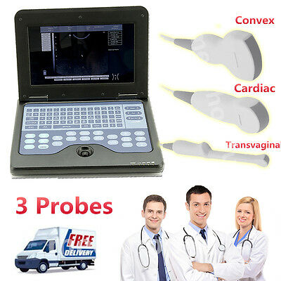 CMS600P2 Portable laptop machine Digital Ultrasound scanner 3 Probes  CONTEC
