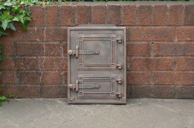 29 x 39.5 cm cast iron fire door clay / bread oven doors pizza stove fireplace