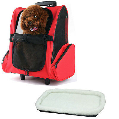 Pet Carrier Backpack With Wheels Airline Approved for Cats/Dogs Backpack Carrier