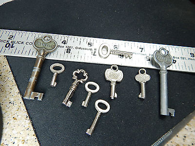 Mixed Lot Vintage Antique? Speciality Steel Keys Hollow,Skeleton,Wind-up