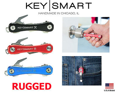 KeySmart Rugged 95mm Compact Key Holder Original 2-14 Keys With Bottle Opener