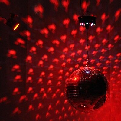 """12"""" Mirror Glass Disco Ball DJ Dance Decorative Home Party Bands Stage Lighting"""