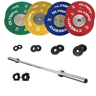 Olympic Weight Set 172kg Bumper with 1000lb Bar