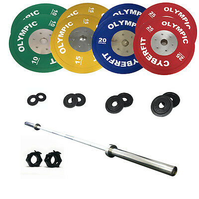 Olympic Weight Set 172kg Bumper with 1200lb bar