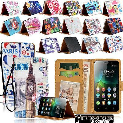 New Leather Stand Flip Wallet Cover Phone Case For Huawei Ascend Y Series Models