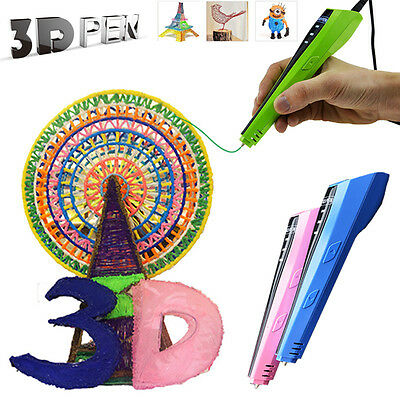 4th Gen 3D Printing Magic Drawing Pen Crafting Modeling PLA/ABS Filament Printer