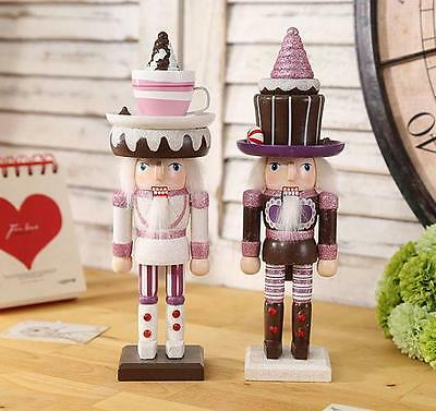Christmas Wooden Nutcracker Walnut Soldiers Christmas Ornament Gift Home Decor