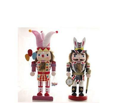 Walnut Soldiers Christmas Alice Circus Wooden Nutcracker Soldiers Decoration
