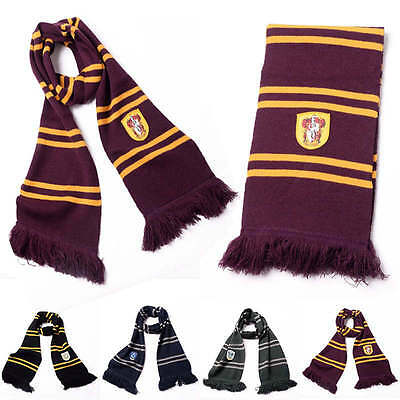 Fashion Harry Potter Gryffindor Thicken Wool Knit Scarf Wrap Soft Warm Costume