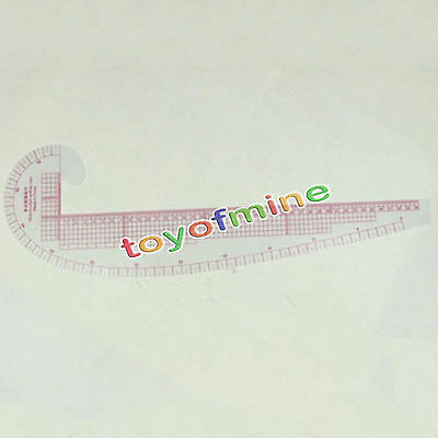 Fashion Design Soft Plastic Ruler 3 In 1 Curve Hip Comma Straight Ruler