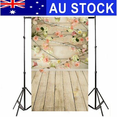 AU STOCK Flower Wal Wood Floor Board Photography Backdrop Photo Background 3x5FT