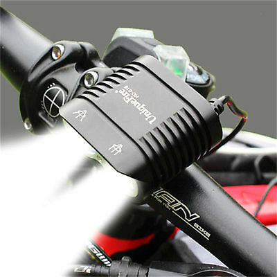 Waterproof Bike Headlight MTB Light 2 CREE LED Lights 5000LM 200M Rechargeable