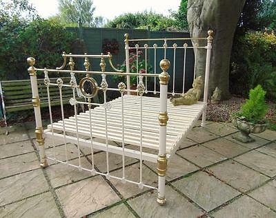 Victorian Cast and Brass Double Bed 1893