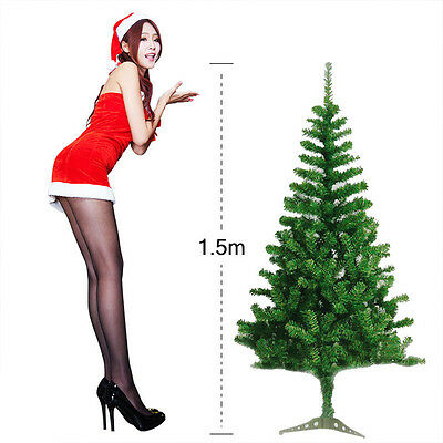 5ft./1.5m Artificial Christmas Tree Green with Metal Stand Xmas Decorations 2016