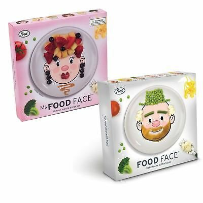 Mr & Ms Food Face Plates - Perfect for Fussy Eaters Keep Kids Busy at Table