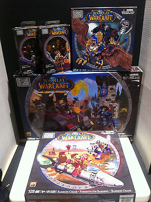 Mega Bloks World of Warcraft 5 building sets WOW