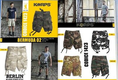 BERMUDA SHORTS AIRBORNE KORPS in 100% COTONE NEW MODEL