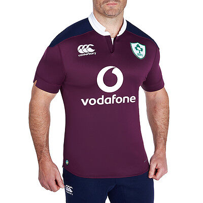 Canterbury Men's Ireland Rugby PRO Away Shirt - Vodafone 2016 2017