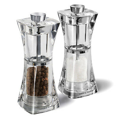 NEW Cole & Mason Crystal Salt and Pepper Mill Set 2pce