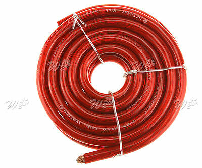 Auto Car Marine Amplifier 170 Amps 21MM Battery Starter Cable Red Positive 5M