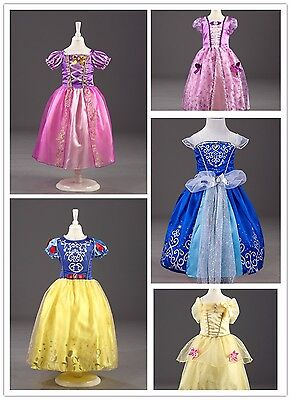 Christmas Girls Princess Costume Fairytale Dress Book Week Party Disney Outfit