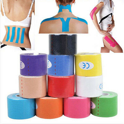 5M*5CM Kinesiology Tape Athletic Muscle Support Sport Physio Therapeutic Tape UP