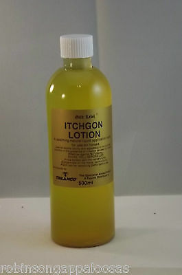 Gold Label Itchgon, soothes itching skin. Neem oil, sweet itch, scurfy skin