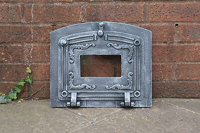 37.3 x 31.5 cm cast iron fire door clay / bread oven doors pizza stove fireplace