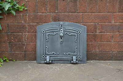 37 x 31 cm cast iron fire door clay / bread oven doors pizza stove fireplace