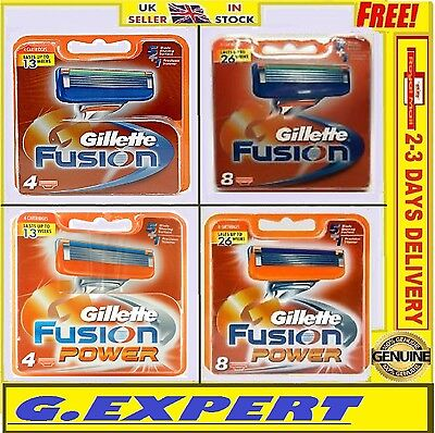 Gillette Fusion / Fusion Power Razor Blades            - 4 / 8 / 10 - Uk Stock