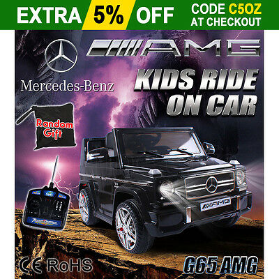 Mercedes Benz Licensed G65 AMG Electric Kids Ride on Car Children Battery Gift