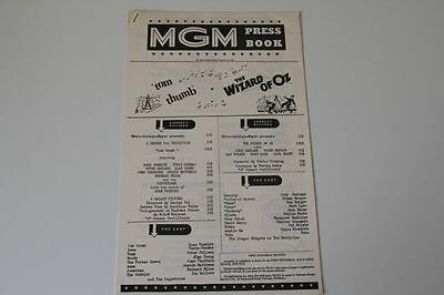 Wizard of Oz & Tom Thumb - Original MGM Pressbook for the 1964 double bill