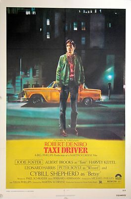 Taxi Driver Original One Sheet (1976) Linen backed & ready to frame (Martin