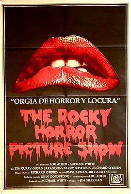 THE ROCKY HORROR PICTURE SHOW Original Argentinean Film Poster (1975) close up