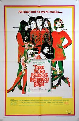HERE WE GO ROUND THE MULBERRY BUSH Original US One Sheet - (1968) Judy Geeson -