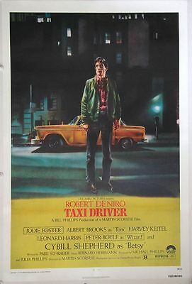 TAXI DRIVER linen backed US One Sheet Film Poster (1976) Robert De Niro by cab,