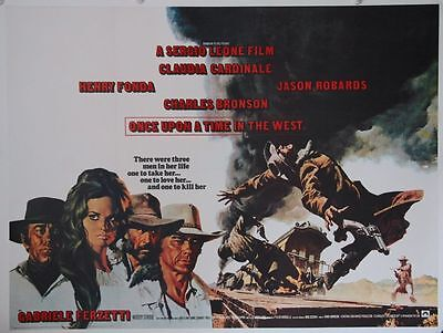 ONCE UPON A TIME IN THE WEST linen backed British quad (1968) Leone, art of