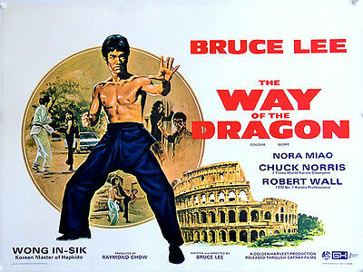 The Way of The Dragon Original Linen Backed UK Quad (1972) - Bruce Lee