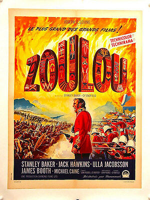 """ZULU Linen Backed French Poster (1964) """"Affiche"""""""