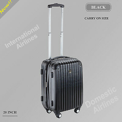 20 Inch  Black colour Suitcases Luggage Trolley Bag Cabin Carry on hard case