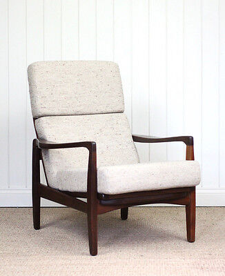 Vintage Retro Danish Lounge Easy Arm Chair Mid Century