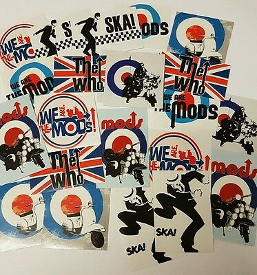 Mod Sticker Set - The Mods / Ska Stickers Pack - Scooter / Music Stickers (25)