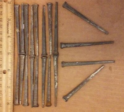 "LOT of 20 3"" Concrete nails used vintage decorative arts and crafts"